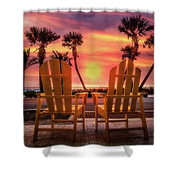 Shower Curtain featuring the photograph Just The Two Of Us by Debra and Dave Vanderlaan