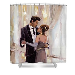 Shower Curtain featuring the painting Just The Two Of Us by Steve Henderson