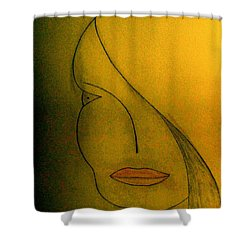 Shower Curtain featuring the drawing Just Thinking by Bill OConnor