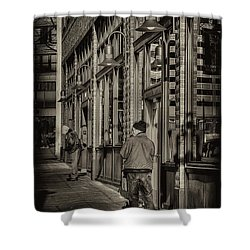 Just Waiting Shower Curtain by David Patterson