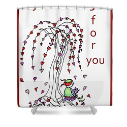 Just Waiting For You Shower Curtain
