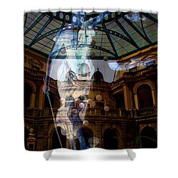 Shower Curtain featuring the photograph Justice Is Blind by Al Bourassa