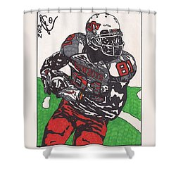 Justin Blackmon 2 Shower Curtain by Jeremiah Colley