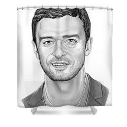 Justin Timberlake Shower Curtain by Murphy Elliott