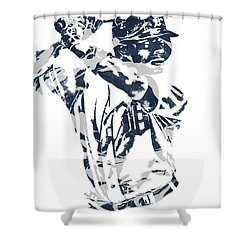 Justin Upton Detroit Tigers Pixel Art 2 Shower Curtain