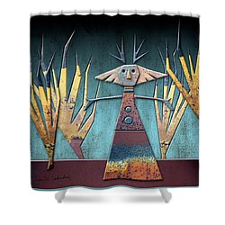 Justine The Goddess Of June Shower Curtain by Joan Ladendorf