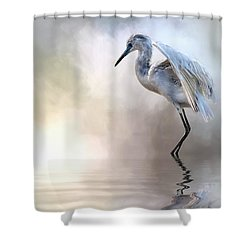 Juvenile Heron Shower Curtain