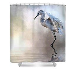 Juvenile Heron Shower Curtain