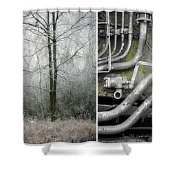 Juxtae #61 Shower Curtain