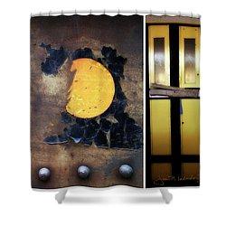 Juxtae #78 Shower Curtain by Joan Ladendorf