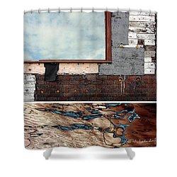 Juxtae #94 Shower Curtain by Joan Ladendorf