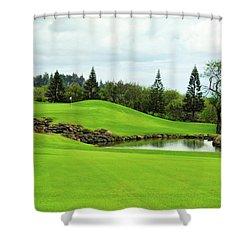 K K Golf Club In Maui Shower Curtain