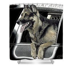 K9 Ronin Shower Curtain