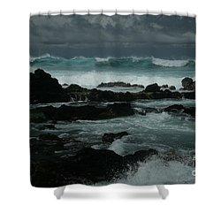 Ka Makani Kaiili Aloha Hookipa Maui Hawaii  Shower Curtain by Sharon Mau