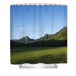Kaaawa Valley Shower Curtain by Dana Edmunds - Printscapes