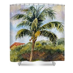 Kaanapali Palm Shower Curtain