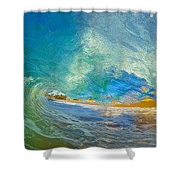 Kaanapali Wave Shower Curtain by James Roemmling