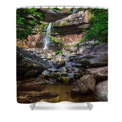 Shower Curtain featuring the photograph Kaaterskill Falls by Mark Papke