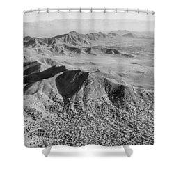 Kabul Mountainous Urban Sprawl Shower Curtain