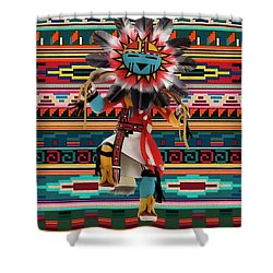 Kachina Doll Art Shower Curtain