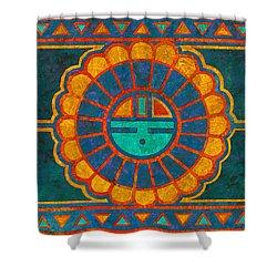 Kachina Sun Spirit Shower Curtain by Linda Henry