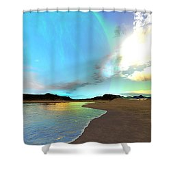 Kaden Prime Shower Curtain by Corey Ford