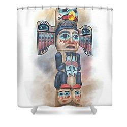 Kadjuk Bird Pole Shower Curtain