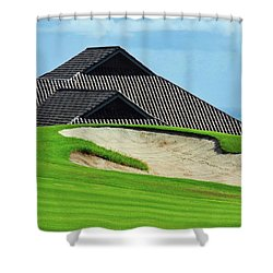 Kahili Golf Course Green Shower Curtain by Kirsten Giving