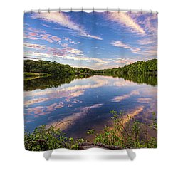 Kahler's Pond Clouds Shower Curtain