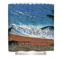 Kahana Sea And Sand Shower Curtain