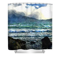 Kaikoura Seascape Shower Curtain by Kai Saarto