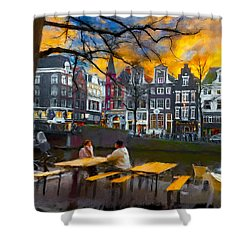 Kaizersgracht 451. Amsterdam Shower Curtain