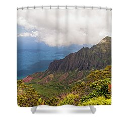 Kalalau Valley Shower Curtain by Brian Harig