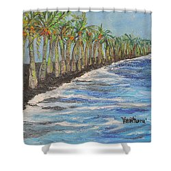 Kalapana Beach Shower Curtain