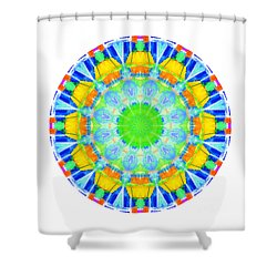 Shower Curtain featuring the photograph Kaleidos - Passionfruit by Jack Torcello
