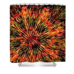 Kaleidoscope 1 Shower Curtain by Jean Bernard Roussilhe