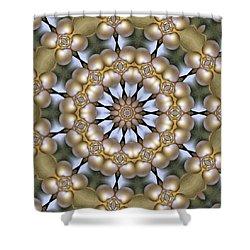 Shower Curtain featuring the digital art Kaleidoscope 130 by Ron Bissett