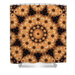Shower Curtain featuring the digital art Kaleidoscope 131 by Ron Bissett