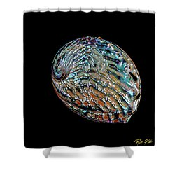 Shower Curtain featuring the photograph Kaleidoscope Abalone by Rikk Flohr