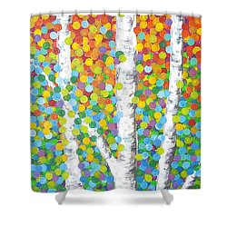 Kaleidoscope Canopy Shower Curtain by Sandra Lett