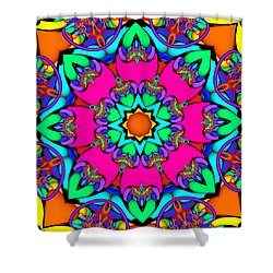 Kaleidoscope Flower 03 Shower Curtain