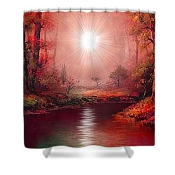 Kaleidoscope Forest Shower Curtain