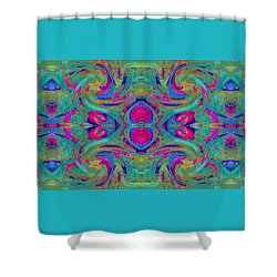Kaleidoscope Heart Shower Curtain by Expressionistart studio Priscilla Batzell