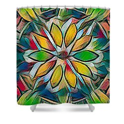 Kaleidoscope In Stained Glass Shower Curtain