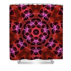 Kaleidoscope With Seven Petals Shower Curtain