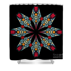 Shower Curtain featuring the digital art Kali Kato - 06a by Aimelle