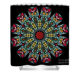 Shower Curtain featuring the digital art Kali Katp - 10 by Aimelle