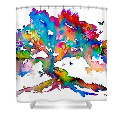 Da186 Kelly's Tree    Daniel Adams Shower Curtain