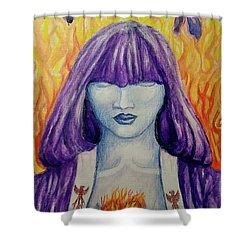 Kali's Daughter Shower Curtain