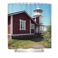 Shower Curtain featuring the photograph Kallo Lighthouse by Ari Salmela